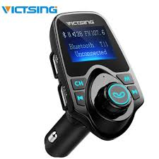 <b>VicTsing Bluetooth FM Transmitter Car</b> Kit 1.44 inches Screen ...