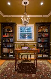 hooker office furniture home office traditional with antiques area rug bookcase bookshelves ceiling lighting chandelier crown ceiling lights for home office