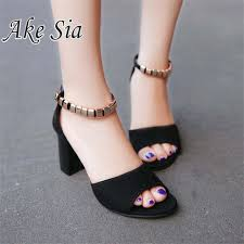 Online Shop Sexy Spring Fish Mouth <b>Hollow Roman Sandals</b> Thick ...