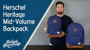 <b>Herschel</b> Heritage vs Heritage <b>Mid Volume Backpack</b> - Benny's ...