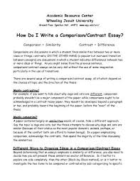 Writing a comparison and contrast essay   Successful Essay   fpdf de Writing a comparison and contrast essay