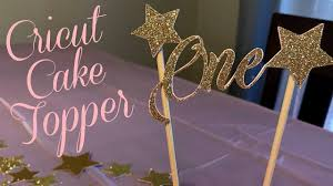 HOW TO MAKE <b>A CAKE</b> TOPPER WITH CRICUT - YouTube