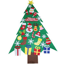 Wall Hanging <b>Felt Christmas Tree</b> Kit Large 90cm Childrens Kids ...