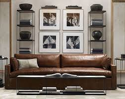 living room sofa ideas: another glamasculine living room from restoration hardware japanesetrashcom
