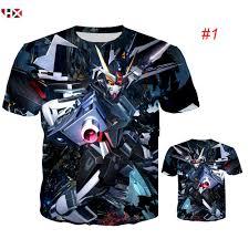 HX Anime <b>Mobile Suit</b> Gundam Series Gundam000 <b>3D Print</b> Men T ...
