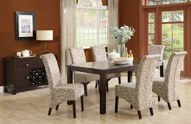Fabric Dining Room Chair Wooden Dining Room Chairs Goegeous Square Pub Table And Chairs