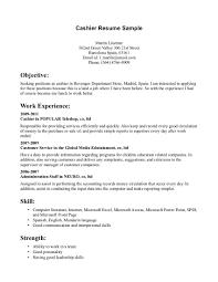 cashier resume samples resume format 2017 cashier