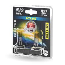 Галогенная <b>лампа AVS</b> /<b>ATLAS ANTI-FOG</b>/желтый H27/881 12V ...