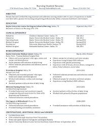 rn student resume