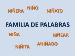 Resultado de imagen de FAMILIA DE PALABRAS