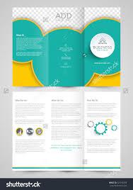 creative professional trifold brochure template flyer stock vector creative professional trifold brochure template or flyer design space for your image