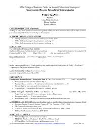 undergraduate utsa resume template with education in bachelor of  cover letter undergraduate utsa resume template with education in bachelor of accounting career objective in retail