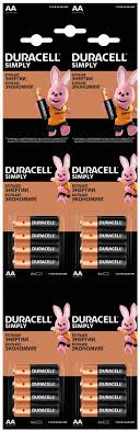 Купить AA <b>Батарейка DURACELL</b> Simply <b>LR6</b>-<b>4BL MN1500</b> в ...