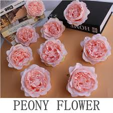 China 10PCS <b>High Simulation Core Peony</b> Flower Head Silk Flower ...
