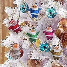 Buy 6Pcs Newest <b>Glitter</b> Santa Claus <b>Christmas Tree</b> Pendant ...