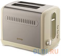 <b>Тостер Gorenje T1100CLI</b> 950Вт <b>бежевый</b>/<b>серебристый</b> — купить ...