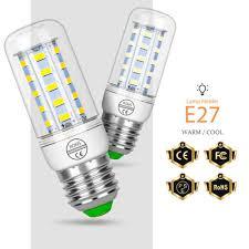 <b>E27 LED Lamp Corn</b> Bulb E14 Lampara Led 3W 220V 24 36 48 56 ...