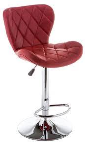 <b>Барный стул Porch</b>, Металл, Искусственная кожа, красный ...