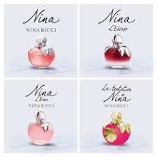 """Coffret de <b>4</b> miniatures parfum <b>nina ricci</b> avec """"les délices de nina ..."""