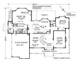 Grand Colonial   Bedrooms and Baths   The House Designersfirst floor