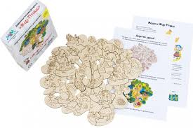 <b>Деревянная игрушка МУМ</b> мозаика-раскраска Жар-Птица ...