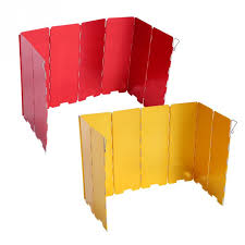 <b>8</b> / 9 <b>Plate Foldable</b> Stove Windshield <b>Aluminium</b> Alloy lightweight ...