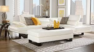 shiloh white 2pc sectional black white living room furniture