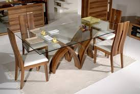 wood dining table white bamboo chairs