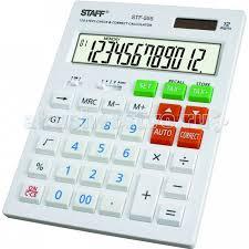 <b>Staff Калькулятор</b> настольный STF-555-WHITE - Акушерство.Ru