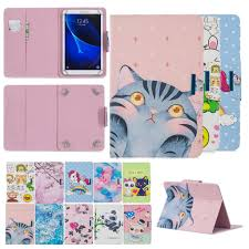 Cartoon Pattern Universal Folio <b>PU Leather</b> Stand <b>Tablet Cover</b> ...