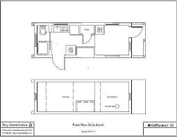 Tiny House Wildflower II   Tiny Green CabinsFloor Plan of the Wildflower II