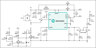 mr16 led driver makes mr16 led lamps compatible most schematic of max16840 hb led driver in a boost configuration for mr16 led
