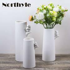 Online Shop <b>Modern</b> white <b>ceramic vase</b> home Decorative china ...