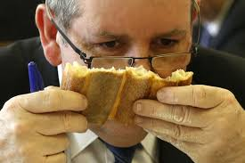 Jury Member Pascal Barillon Sniffs French Bread