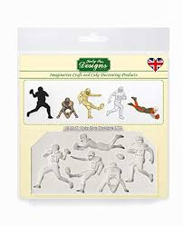 American Football Silhouettes Silicone Mould for <b>Cake Decorating</b> ...