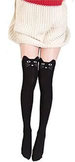 Geoot Women Cute 3d <b>Cartoon Animal Pattern</b> Thigh Stockings ...