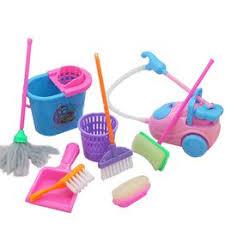 9pcs/lot Color Random Cute Kids Pretend Toy Mini Broom ... - Vova