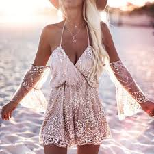 <b>Summer</b> Beach Clothing Women <b>Sexy Sequin</b> Bodysuit <b>Summer</b> ...