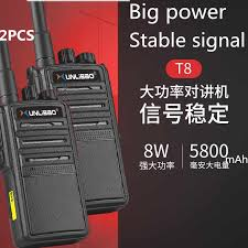 <b>2PCS Baofeng</b> PMR Walkie Talkie <b>8W</b> High Power XUNLIBAO T8 ...