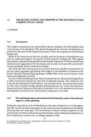 the restructuring and growth of the randstad cities current the randstad a research and policy laboratory