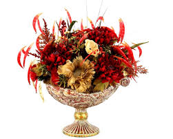 Flower Arrangements For Dining Room Table Hand Crafted Dining Table Centerpiece Silk Flower Arrangement