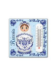 25% Magic Home Термометр Матрешка декоративный жидкостный