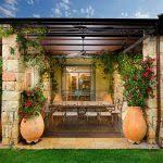 plant pots patio mediterranean