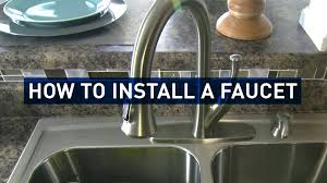 Changing A Kitchen Faucet How To Replace A Kitchen Faucet Youtube