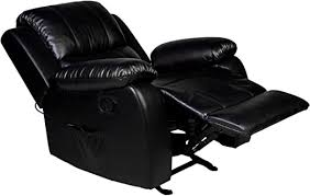 RelaxZen Clarkson Rocker <b>Recliner</b> with <b>Massage</b> and Heat, <b>Black</b>