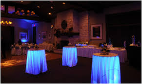to complement our color wash lighting we can install our wireless led uplights under your head table guest tables buffet tables or bistro tables beautiful color table uplighting