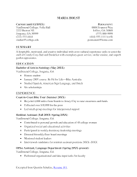 college job resume cipanewsletter resume sample student college template