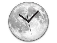<b>12Inch</b> Creative Wall Clock <b>Moon</b> Shape Waterproof <b>Luminous</b> Wall ...