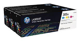 Купить <b>Картридж</b> (тройная упаковка) <b>HP</b> 305A, голубой / желтый ...