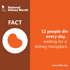 organ transplants organ donation and donate life month every day 12 people die waiting for a kidney transplant consider adding your